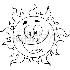 12895 RF Clipart Illustration Happy Sun Cartoon Character clipart. Royalty-free image # 385064