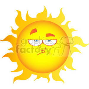 12901 RF Clipart Illustration Lowering Sun Cartoon Character clipart. Royalty-free image # 385084