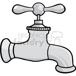 12876 RF Clipart Illustration Water Faucet clipart. Commercial use image # 385134