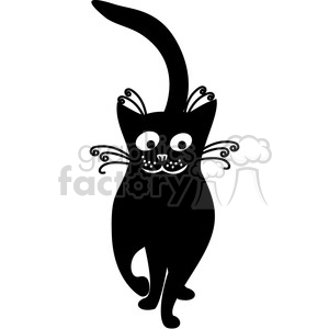 vector clip art illustration of black cat 081 clipart. Royalty-free image # 385324