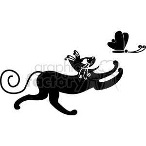 vector clip art illustration of black cat 095 clipart. Royalty-free image # 385384