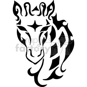 wild giraffe design 042 clipart. Royalty-free image # 385414