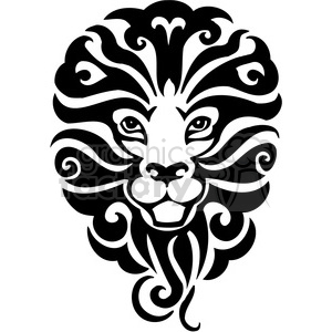 tribal lion mascot clipart. Royalty-free image # 385454