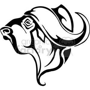 wild ox 016 clipart. Royalty-free image # 385474