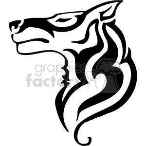 wolf logo design clipart. Royalty-free image # 385494