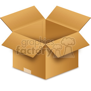 clipart opened box clipart. Royalty-free icon # 385504
