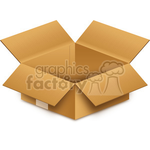 opened box clipart. Royalty-free image # 385524