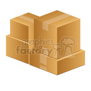 moving boxes art clipart. Royalty-free image # 385534