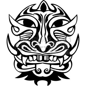 ancient tiki face masks clip art 016 clipart. Royalty-free image # 385813