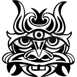 ancient tiki face masks clip art 047 clipart. Royalty-free image # 385821