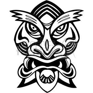 ancient tiki face masks clip art 014 clipart. Royalty-free image # 385839