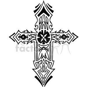 cross clip art tattoo illustrations 004 clipart. Royalty-free image # 385875