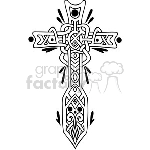 Celtic cross design clipart. Royalty-free image # 385885