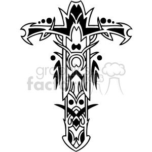 cross clip art tattoo illustrations 039 clipart. Royalty-free image # 385895