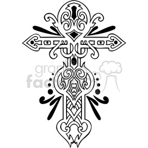 cross clip art tattoo illustrations 024 clipart. Commercial use image # 385915