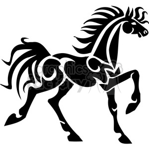 horse walking clipart. Commercial use image # 385927