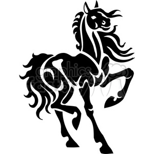 horse art design clipart. Royalty-free image # 385947