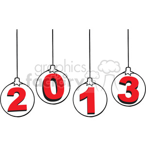 2013 year clipart. Commercial use image # 385967