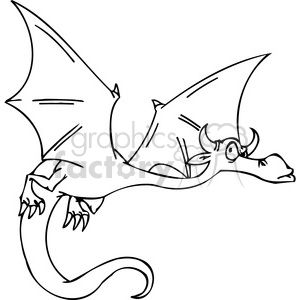 funny cartoon dragons 031 clipart. Royalty-free image # 385999