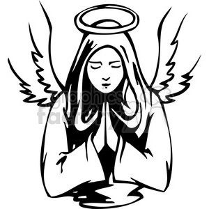 Angel religious. Female clipart royalty free