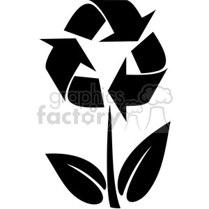 eco environment illustration logo symbols elements earth black+white flower recycle nature repeat sustainable