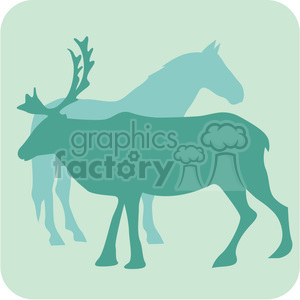 animals moose horse 098 clipart. Royalty-free image # 386139