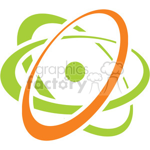 eco environment illustration logo symbols elements earth atoms science nuclear atom atomic energy
