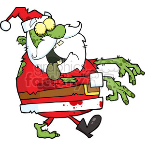 5086-Santa-Zombie-Walking-With-Hands-In-Front-Royalty-Free-RF-Clipart-Image clipart. Royalty-free image # 386208