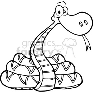 5121-Snake-Cartoon-Character-Royalty-Free-RF-Clipart-Image clipart. Commercial use image # 386258