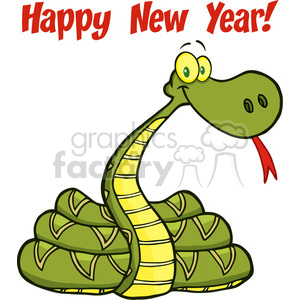 5124-Snake-Cartoon-Character-With-Text-Royalty-Free-RF-Clipart-Image clipart. Royalty-free image # 386288