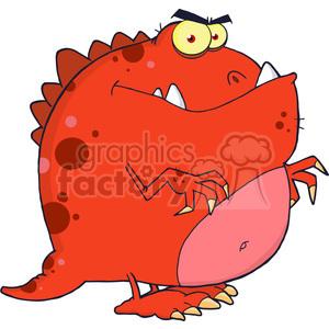 5096-Dinosaur-Cartoon-Character-Royalty-Free-RF-Clipart-Image