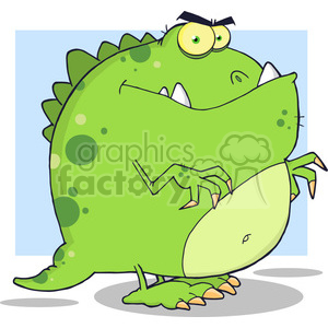 5095-Dinosaur-Cartoon-Character-Royalty-Free-RF-Clipart-Image clipart. Commercial use image # 386348