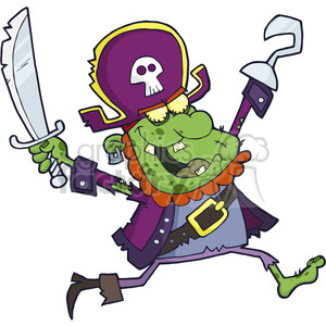 5089-Pirate-Zombie-Royalty-Free-RF-Clipart-Image clipart. Royalty-free image # 386368