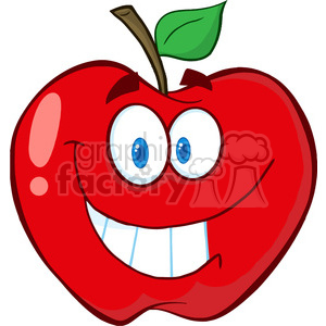 5184-Apple-Cartoon-Mascot-Character-Royalty-Free-RF-Clipart-Image clipart. Commercial use image # 386378