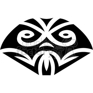 tribal masks vinyl ready art 025 clipart. Commercial use image # 386388