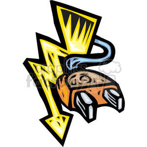 power plug clipart. Royalty-free image # 173662