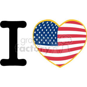 I-Love-America-With-USA-Flag-Heart clipart. Royalty-free image # 386574
