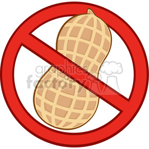 no peanuts sign clipart. Commercial use image # 386584