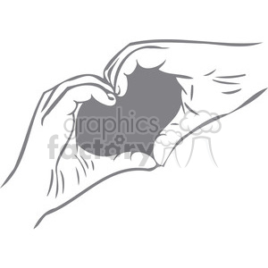 hands in the shape of a heart clipart. Royalty-free image # 386633