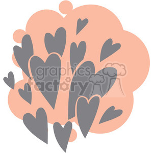 love Valentines hearts cartoon vector heart bunch