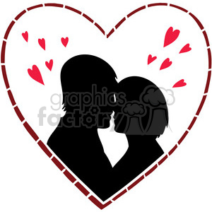 couple with hearts surrounding them clipart. Royalty-free image # 386693