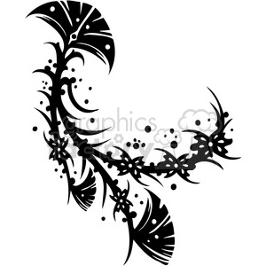 Chinese swirl floral design 028 clipart. Royalty-free image # 386811