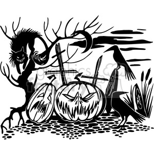 Halloween clipart illustrations 042 clipart. Royalty-free image # 387061