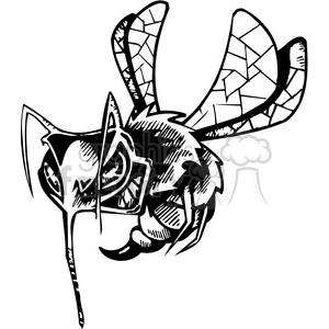 angry bee clipart clipart. Commercial use image # 387122
