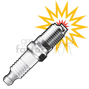 spark plug sparking clipart. Commercial use image # 387142