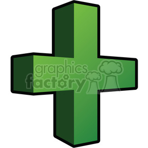 3d addition sign clipart