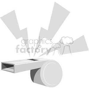 whistle blowing gray clipart. Commercial use image # 387172