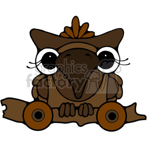 Pull Toy Owl 2 in color clipart. Royalty-free image # 387202