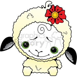 Sheep White 3 in color clipart. Commercial use image # 387232