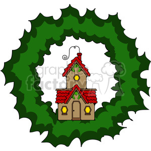 Cottage Wreath clipart. Royalty-free image # 387252